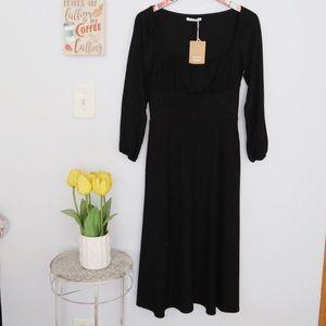 Reformation Black Pippa Dress Medium